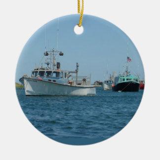 Chatham港のボート セラミックオーナメント
