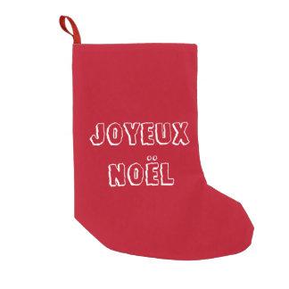 Chaussette de noël Joyeux Noël スモールクリスマスストッキング