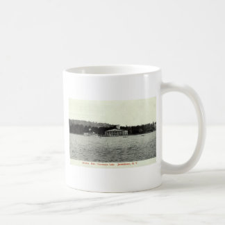 Chautauqua湖、Jamestown NYの1909年のヴィンテージ コーヒーマグカップ
