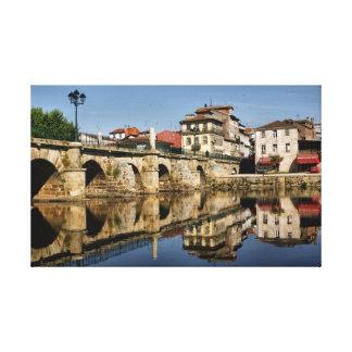 Chaves、ポルトガルのローマ橋 キャンバスプリント