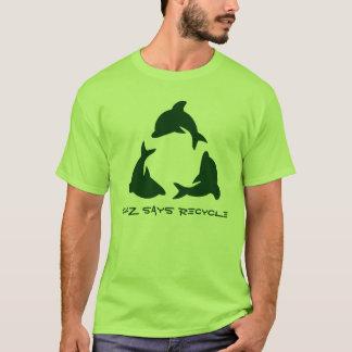 Chazはリサイクルを言います Tシャツ