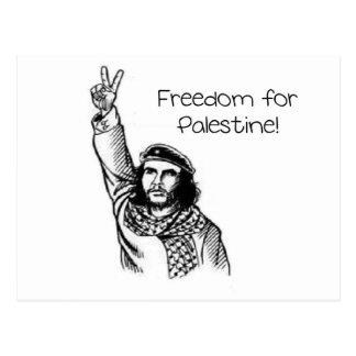 Che Guevaraのパレスチナのための自由! ポストカード