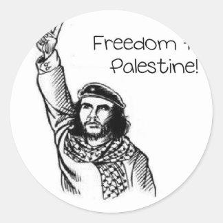 Che Guevaraのパレスチナのための自由! ラウンドシール