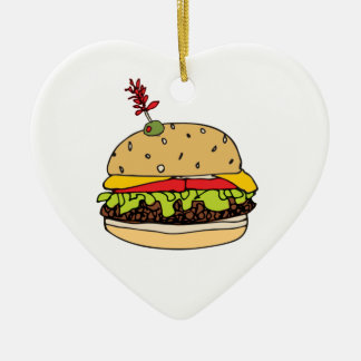 Cheese Burger Deluxe Personalize セラミックオーナメント