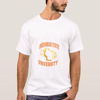 cheeseheadの州立大学 tシャツ