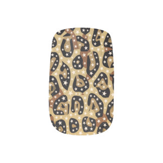 Cheetah Print Bling Minx Nails ネイルアート