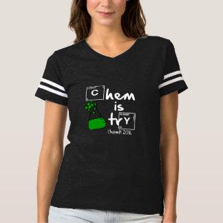 Chemは試みの女性のフットボールティーです Tシャツ