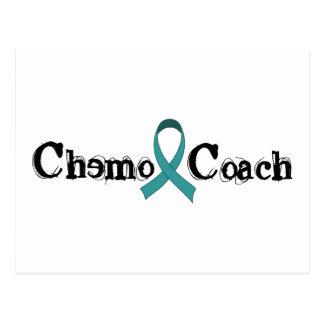 Chemoのコーチ-ティール(緑がかった色)のリボン ポストカード