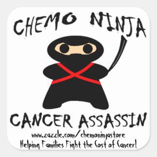 Chemoの忍者のステッカー! スクエアシール