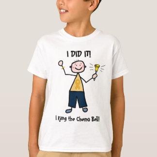 Chemo鐘-幼年期の蟹座の金ゴールドのリボン Tシャツ