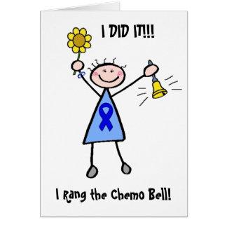 Chemo鐘-結腸癌の女性 グリーティングカード