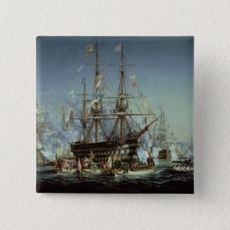Cherbourg 1858年へのビクトリア女王の訪問 5.1cm 正方形バッジ