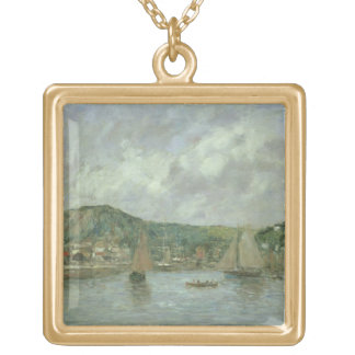 Cherbourg 1883年(キャンバスの油) ゴールドプレートネックレス