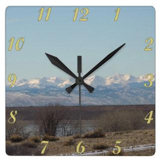 Cherry Creekの州立公園の景色 スクエア壁時計