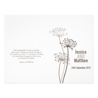 Chervil|グラフィック|茶色|花|結婚|プログラム チラシ広告デザイン