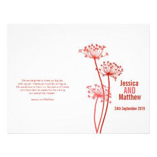 Chervil|グラフィック|赤い|花|結婚|プログラム チラシ広告