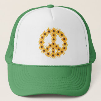 CherylsArt著ヒマワリのピースサインの帽子 キャップ