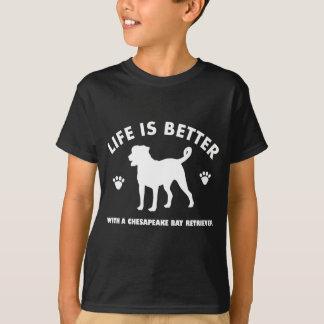 chesapeak湾retrier犬のデザイン tシャツ