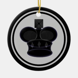 Chess黒い王 セラミックオーナメント