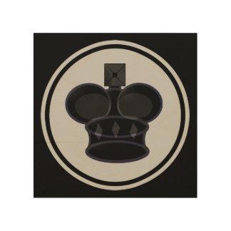 Chess Icon黒い王 ウッドウォールアート