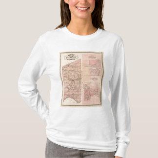 Chesterton、ヘブロンが付いているPorter郡の地図 Tシャツ