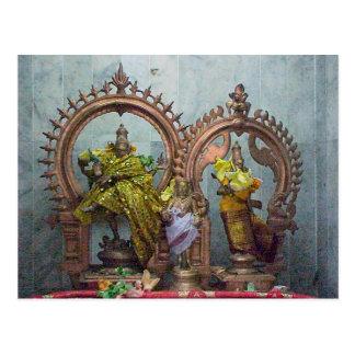 Chettiarのヒンズー教の寺院、小型神社 ポストカード