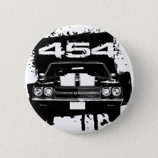 Chevelle 454 5.7cm 丸型バッジ