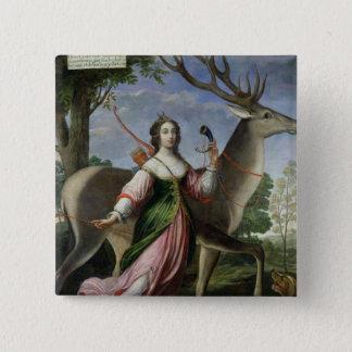 ChevreuseのMarie de Rohan-Montbazon公爵夫人 5.1cm 正方形バッジ