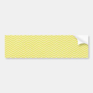 chevron02黄色く黄色いジグザグパターンのジグザグ形TEX バンパーステッカー