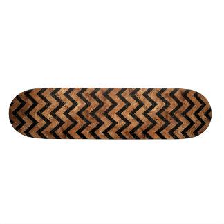 CHEVRON9黒い大理石及びブラウン石造りの(R) スケートボード