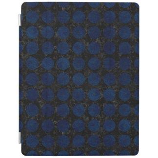 CHEVRON9黒い大理石及び青くグランジな(R) iPadスマートカバー