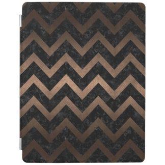 CHEVRON9黒い大理石及び青銅の金属 iPadスマートカバー