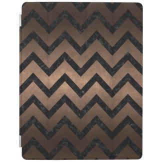 CHEVRON9黒い大理石及び青銅の金属(R) iPadスマートカバー