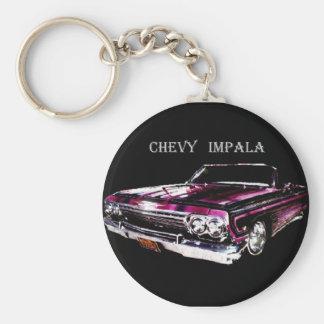 Chevyのインパラ-キーホルダー ベーシック丸型缶キーホルダー