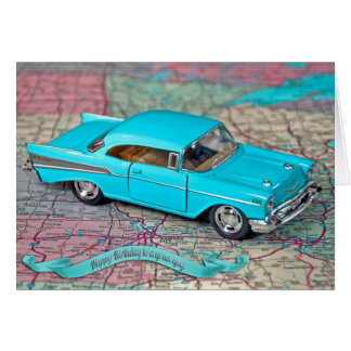Chevyの古い1957年の誕生日 カード