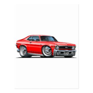 Chevyの新星の赤車 ポストカード