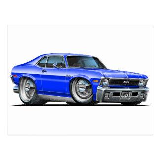 Chevyの新星の青車 ポストカード