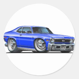 Chevyの新星の青車 ラウンドシール