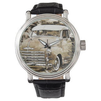 Chevyクラシックなシボレーのトラック 腕時計