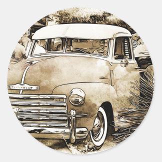 Chevyクラシックなシボレーの小型トラック。 ラウンドシール