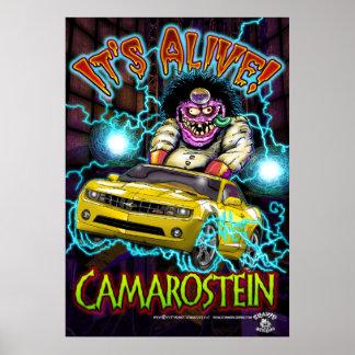 Chevy黄色いCamaro RSポスター ポスター