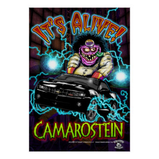 Chevy黒いCamaro RSポスター ポスター
