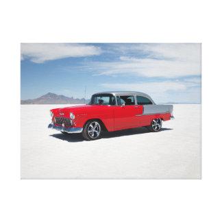"""chevy 1955は、通りの棒、""""三5"""" """"belair改造しました キャンバスプリント"""