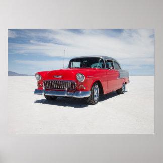 """chevy 1955は、通りの棒、""""三5"""" belair改造しました ポスター"""