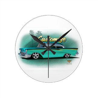 chevy 1957はカスタムな時計を改造しました ラウンド壁時計