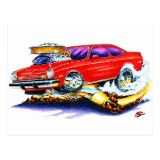 Chevy Vegaの赤車 ポストカード