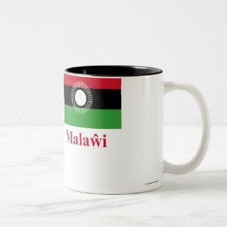 Chewaの名前のマラウィの旗 ツートーンマグカップ