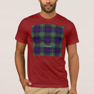 Cheyneの一族の格子縞のスコットランドのキルトのタータンチェック Tシャツ