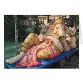 Chiang Mai、タイのGaneshaの横たわる彫像 カード