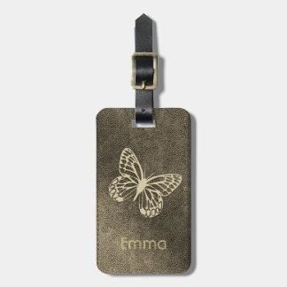 Chic Add Name Butterfly Travel Tag ラゲッジタグ